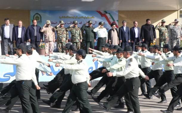 برگزاری صبحگاه مشترک نیروهای مسلح آذربایجان غربی به مناسبت هفته ناجا + تصاویر