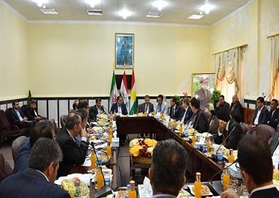 برگزاری نشست مشترک معاونین اقتصادی استانداران آذربایجان غربی و اربیل اقلیم کردستان عراق