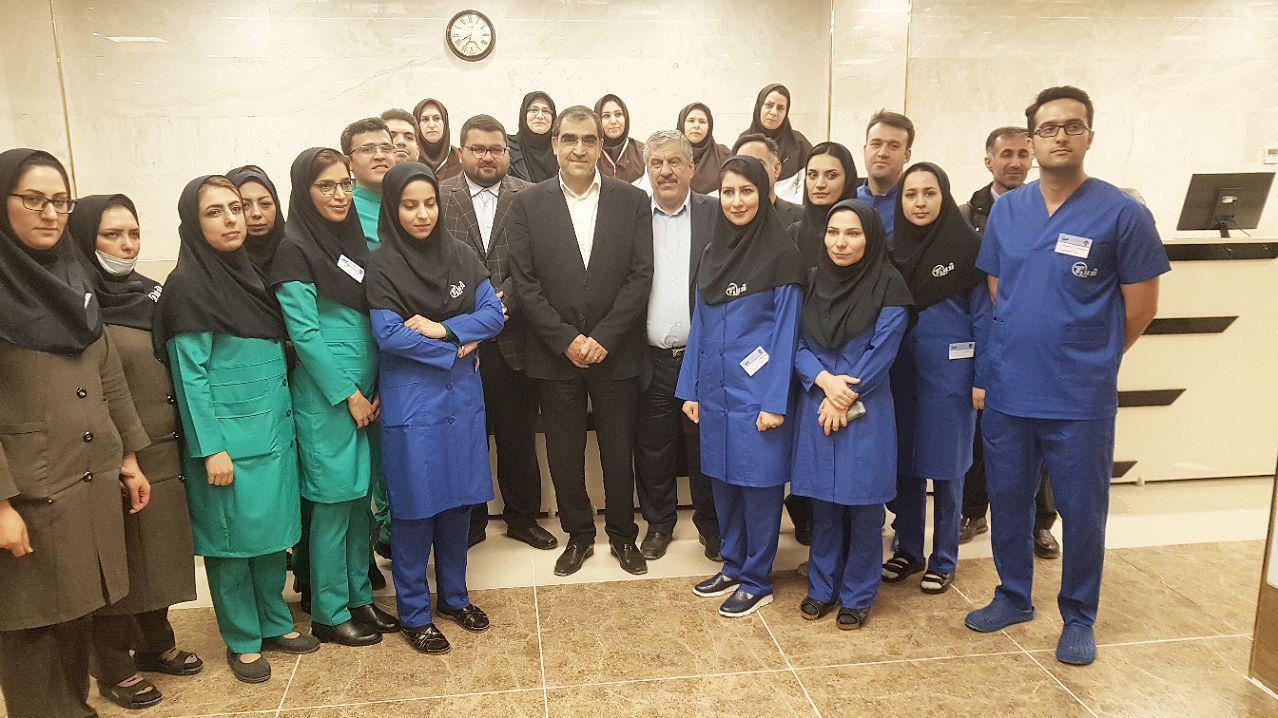 گزارش افتتاح پروژه های عرصه سلامت در سفر رئیس جمهور به آذربایجان غربی + تصاویر