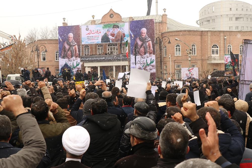 تجمع بزرگداشت شهید سپهبد قاسم سلیمانی در ارومیه +تصاویر