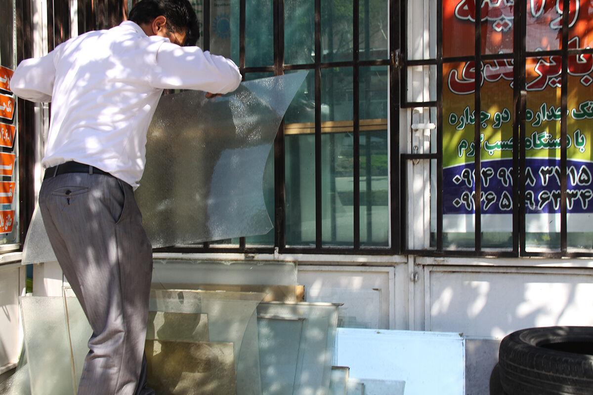 دیوار مهربانی از جنس شیشه در مهاباد + تصاویر